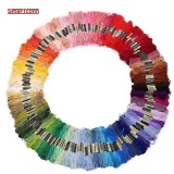Sale 100 Random Colors Dmc Similar 100 Cotton Embroidery Thread Kits For Cross Stitch Mouline 6 Strands Floss 8M Skein Intl Oem Original