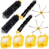 Best Rated 10Pcs Filters 6 Arm Side Brush Pack Big Kit For Irobot Roomba 700 Series 760 770 780 Intl