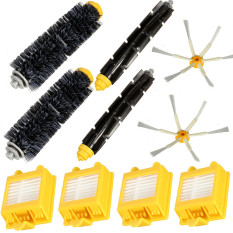 Sale 10Pcs Filters 6 Arm Side Brush Pack Big Kit For Irobot Roomba 700 Series 760 770 780 Intl