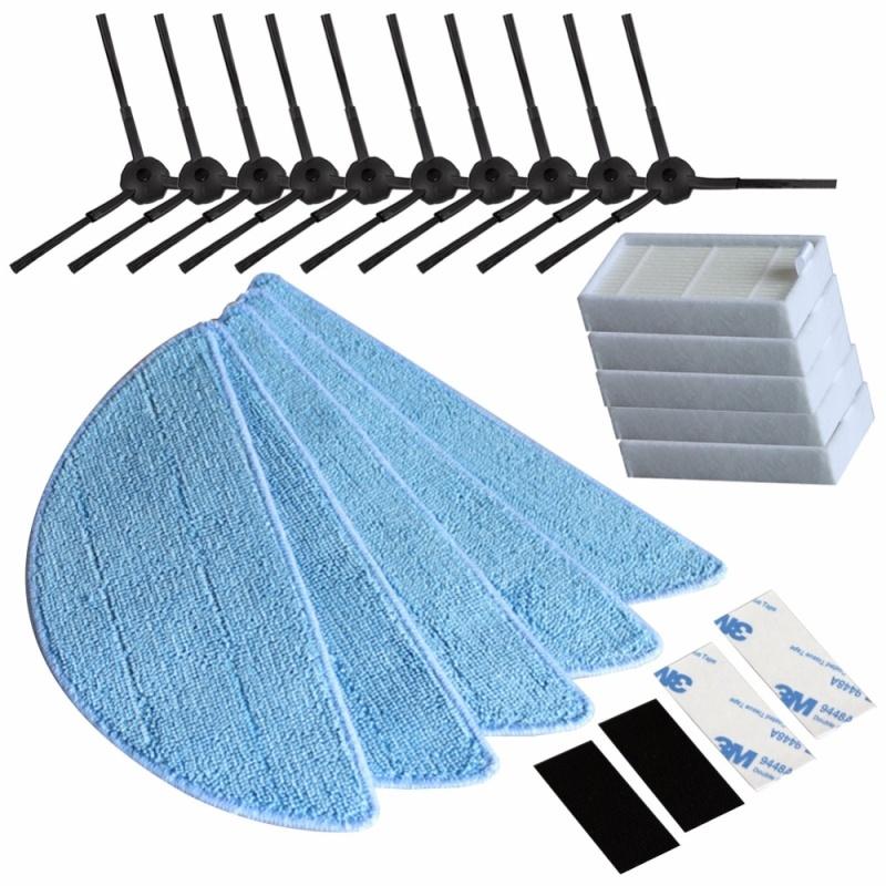 10pcs side Brush+5pcs hepa Filter+5pcs Mop Cloth+4pcs Velcro for chuwi ilife V5 V3 series parts ilife v5pro X5 v5s ilife v5 pro - intl Singapore