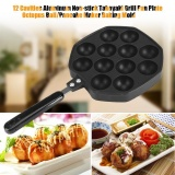12 Cavities Aluminum Non Stick Takoyaki Grill Pan Plate Octopus Ball Pancake Maker Baking Mold Intl Reviews