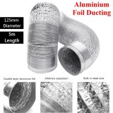 Shop For 125Mm Aluminum Foil Flexible Ducting 5 10M Foil Air Ventilation Duct Hydroponic 5M Intl