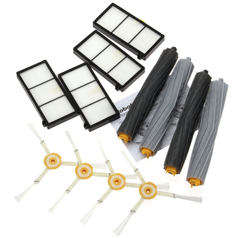 12Pcs Extractor Brush&Filter Kit for iRobot Roomba 800 Series 870 880 Cleaner - intl Singapore
