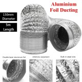 Sale 150Mm Aluminum Foil Flexible Ducting 5 10M Foil Air Ventilation Duct Hydroponic 5M Intl Not Specified