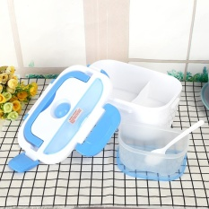 Latest 220V Electric Heating Lunch Box Food Warmer Container Eu Plug Blue Intl