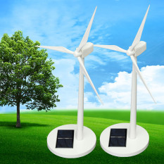 How Do I Get 2Pcs New Science Toy Desktop Model Solar Powered Windmills Wind Turbine Abs Plast