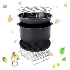 5pcs Air Frying Pan Fryer Baking Basket Pizza Pan Air Fryer Accessories - Intl By Huyia.