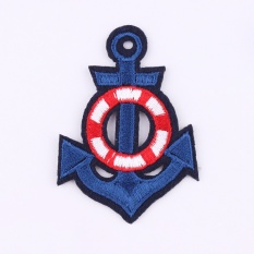 5Pcs Patches Cartoon Anchor Embroidered Iron On Patch For Clothing Jacket Applique Applique Diy Accessory Intl Review