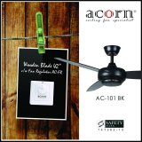 How To Get Acorn Rotatoire Ac 101 42 Wooden Blades Decorative Ceiling Fan C W Fan Regulator Matt Black
