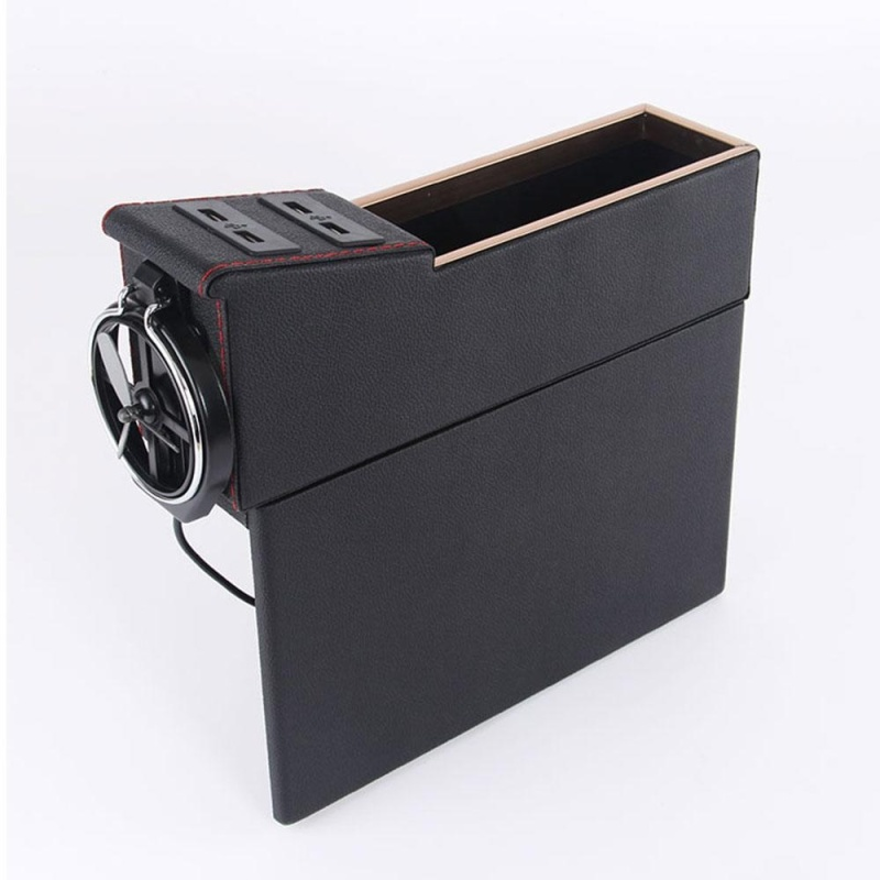 aoyou Car Pocket Organizer Seat Console Filler Side with Foldable Cup Holder and 4 USB Charge Port - intl Singapore