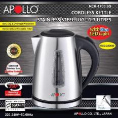 Apollo Nek-1703ss Cordless Electric Kettle 1.7l By Sg Shopping Mall.