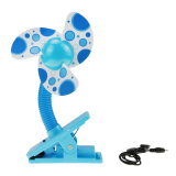 The Cheapest Baby Infant Toddler Safe Stroller Playpen Cot Buggy Pram Clip On Cooling Mini Fan With Usb Cable Blue Online