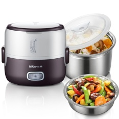 Bear Premium Mini Electric Double Layer Insulation Heating Egg And Lunch Box Steamer Rice Cooker Dfh S2016 1 3L Coffee Intl Lower Price
