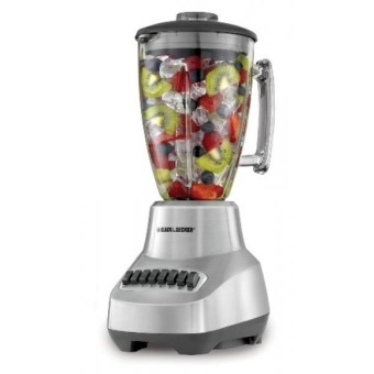 BLACK+DECKER BL3500S Countertop Blender with 6-Cup Glass Jar 12- Speed Settings Silver Blender