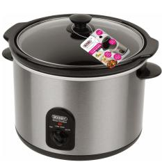 Booney 5.0L Multi-Purpose Electric Slow Cooker BSC56R (Silver/Black)