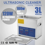 Brand New 3L Stainless Steel Digital Timer 220W Ultrasonic Cleaner Heater Intl Price Comparison