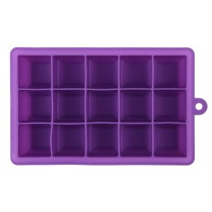Creative Diy Big Silicone Ice Tray Mold Square Shape Purple By Sportschannel.