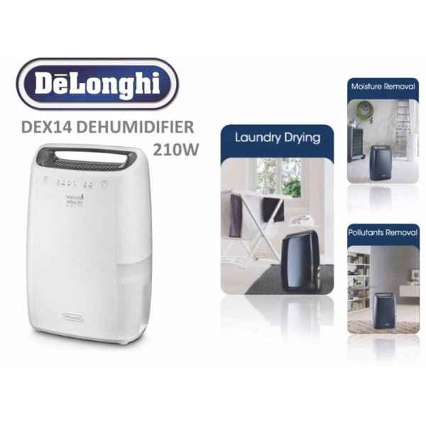 DeLonghi Tasciugo Ariadry Dehumidifier (White) - DEX14 Singapore