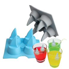 Drink Ice Tray Cool Shark Fin Shape Ice Cube Freeze Mold Ice Maker Mould By Sportschannel.