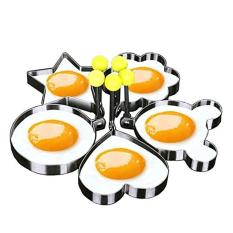 Who Sells Egg Mold Pancake Rings Mold Kitchen Tool Stainless Steel Cute 5Pcs Set Shaped Intl The Cheapest