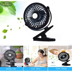 Esogoal Rechargeable Quiet Operated Clip On Mini Desk Fan Black Intl Lower Price