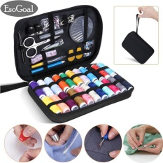 Esogoal Sewing Kit With 90 Sewing Accessories, 24 Thread Reels Sewing Tools Mini Sewing Kit For Beginners Traveller Emergency Family With Zipper Portable Case - Intl By Esogoal.