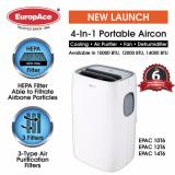 Low Cost Europace Epac 14T6 14K Btu Portable Aircon With Hepa And Carbon Filter
