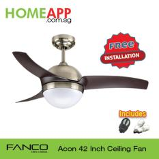 Fanco Acon 42 Ceiling Fan With Light And Remote Antique Brass With Free Installation Shop