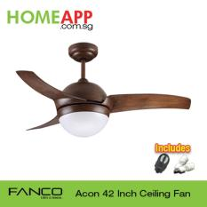 Fanco Acon 42 Ceiling Fan With Light And Remote Wood Best Buy