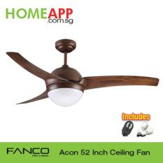 Latest Fanco Acon 52 Ceiling Fan With Light And Remote Wood