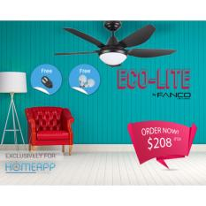 Review Fanco Eco Lite 52 Inch Ceiling Fan With Led Light And Remote Singapore