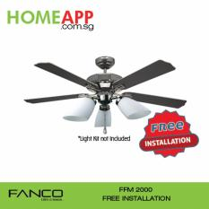 Sale Fanco Ffm 2000 52 Inch Ceiling Fan Gm With Installation Online On Singapore