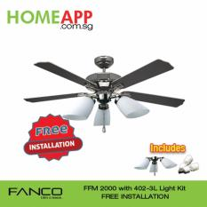 Fanco Ffm 2000 52 Inch Ceiling Fan With 402 3L Light Kit And Free Installation Gm Deal