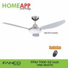 Fanco Ffm 7000 52 Inch Ceiling Fan With Original Remote Metallic Silver Singapore