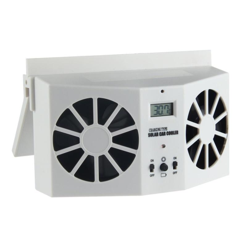 fehiba Solar Dual Fan Car Front/Rear Window Air Vent Cool Cooler Fan Windshield Fan - intl Singapore