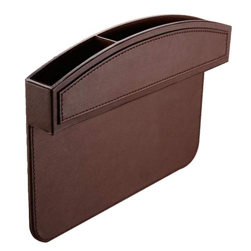 foorvof Kobwa Car Seat Side Pocket, PU Leather Car Seat Console Side Anti Drop Gap Filler Storage Catcher - intl Singapore