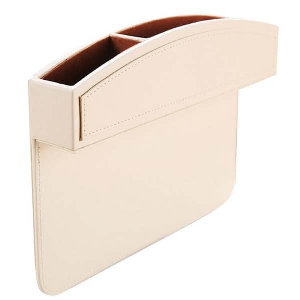 foorvof Kobwa Car Seat Side Pocket, PU Leather Car Seat Console Side Anti Drop Gap Filler Storage Catcher - intl Singapore