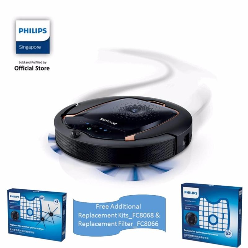 PHILIPS WITH Philips SmartPro Active Robot Vacuum Cleaner - FC8820/01 FREE Filter (FC8066 & FC8068) Singapore