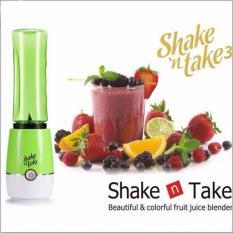 Lowest Price Top Deals Shake N Take 3 Fruit Blender Multi Function Juicer Green Single Bottle