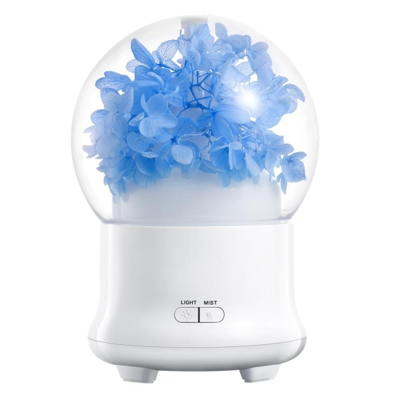 fuskm Ultrasonic Aromatherapy Essential Oil Diffuser Aroma Diffuser Cool Mist Humidifier Preserved Fresh Flower-UK PLUG - intl Singapore