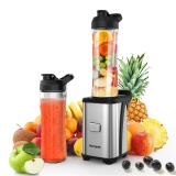 Homgeek Mini 350W Fruit And Vegetable Single Serve Juice Extractor Personal Smoothie Blender Detachable Food Processor Vegetable Fruits Blender With 2 Bpa Free Travel Sport Cups 220 240V Intl Review