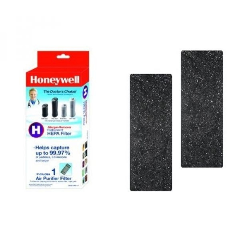 Honeywell True HEPA Air Purifier Replacement Filter, HRF-H1/Filter (H) & Honeywell Odor-Reducing Air Purifier Replacement Pre-Filter 2 Pack, HRF-B2 /Filter (B) - intl Singapore