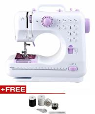 Buy Free Sewing Kit Household Multifunction Mini Sewing Machine 505A 12 Stitches Replaceable 11Pc Presser Foot Power Supply Led Light Sewing Classes Intl Asian Trends Cheap