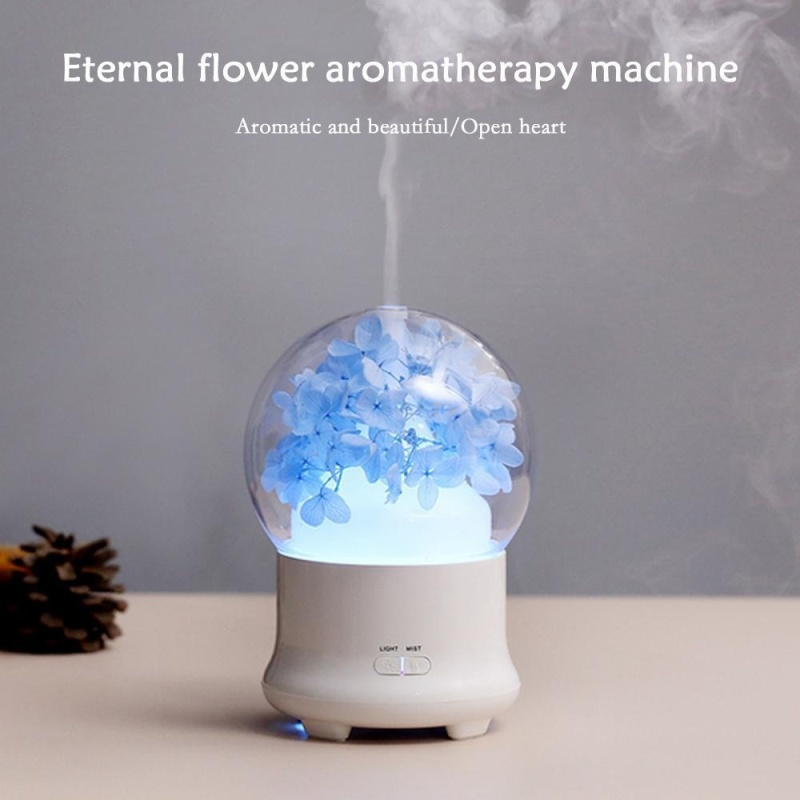 KuRun Ultrasonic Aromatherapy Essential Oil Diffuser Aroma Diffuser Cool Mist Humidifier Preserved Fresh Flower-UK PLUG - intl Singapore