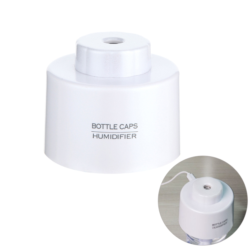 Uebfashion LED Light USB Bottle Caps Humidifier Air Diffuser Aroma Mist Maker(White) - intl Singapore