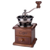 Discount Leegoal Conical Burr Wooden Coffee Mill Manual Hand Grinder Leegoal China