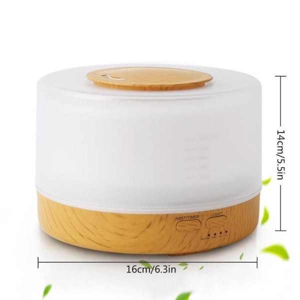 Mist Humidifier Home Fragrance Diffuser 2-in-1, Classical Style With 7 Colors Light Mode, Large Capacity Enough For Singapore