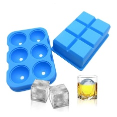 Best Buy Leegoal Ice Cube Trays Silicone Set Of 3 Sphere Round Ice Ball Maker Large Square Ice Cube Mold For Chilling Bourbon Whiskey Cocktail Beverages And More Intl