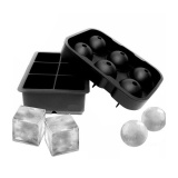 Buy Leegoal Ice Cube Trays Silicone Set Of 3 Sphere Round Ice Ball Maker Large Square Ice Cube Mold For Chilling Bourbon Whiskey Cocktail Beverages And More Intl Cheap China