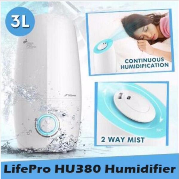 Lifepro HU380 3L Humidifier With Aroma Function/ Singapore safety mark plug/ English Manual Singapore